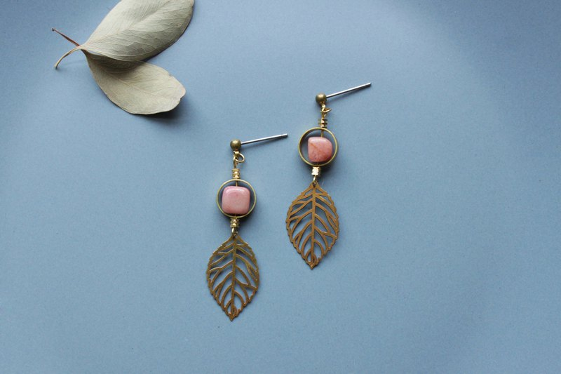 Foliage - earring  clip-on earring
