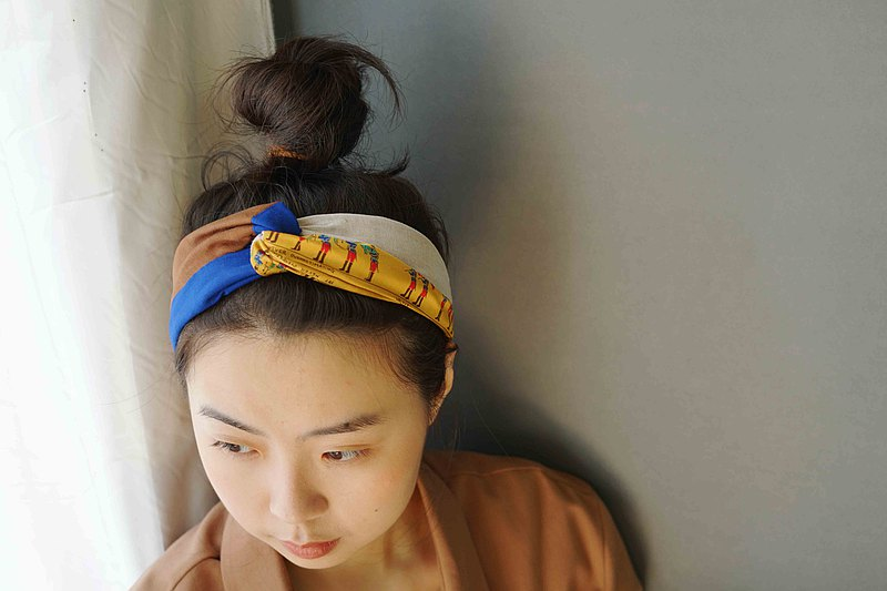 Wabisabi Japanese four-color cross hair band-distract me from everything