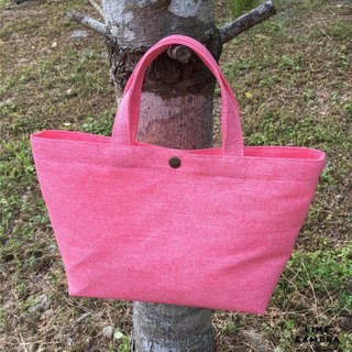 Paper pink magnetic deduction bag
