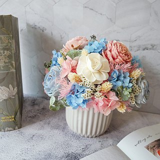 [Pink Sakura Light Dance] Dry Flower / Opening Potted Flower / New Wedding / New Home / Entrance / Home Furnishing / Customization