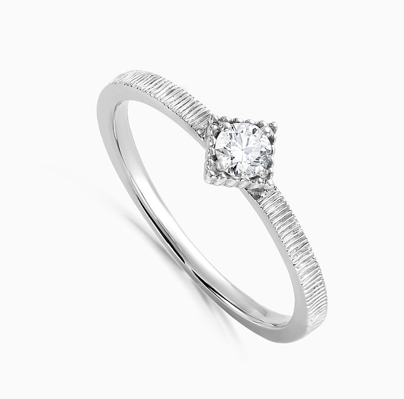FRANKNESS JEWELRY IN 14 KT ROSE AND WHITE GOLD WITH 1 DIAMOND 0.1 CT.