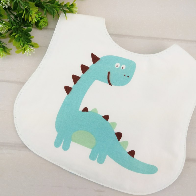 童趣大恐龍-3款可選。雙面圍兜 (可繡名字)