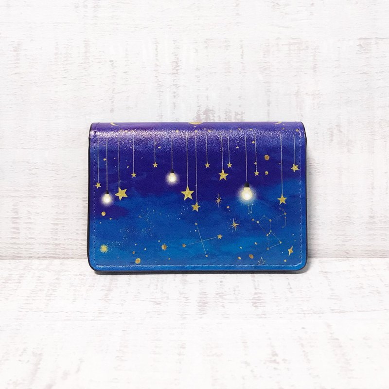 Card Case The glow of stars / Business Card Holder / GALAXY / planetarium / star
