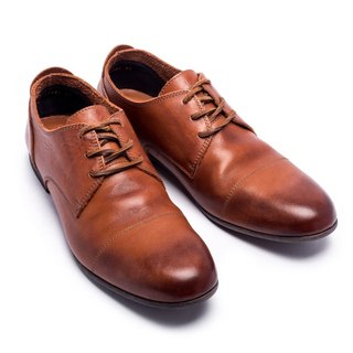 ARGIS classic simple low-tube Derby shoes #91102 light coffee - handmade in Japan
