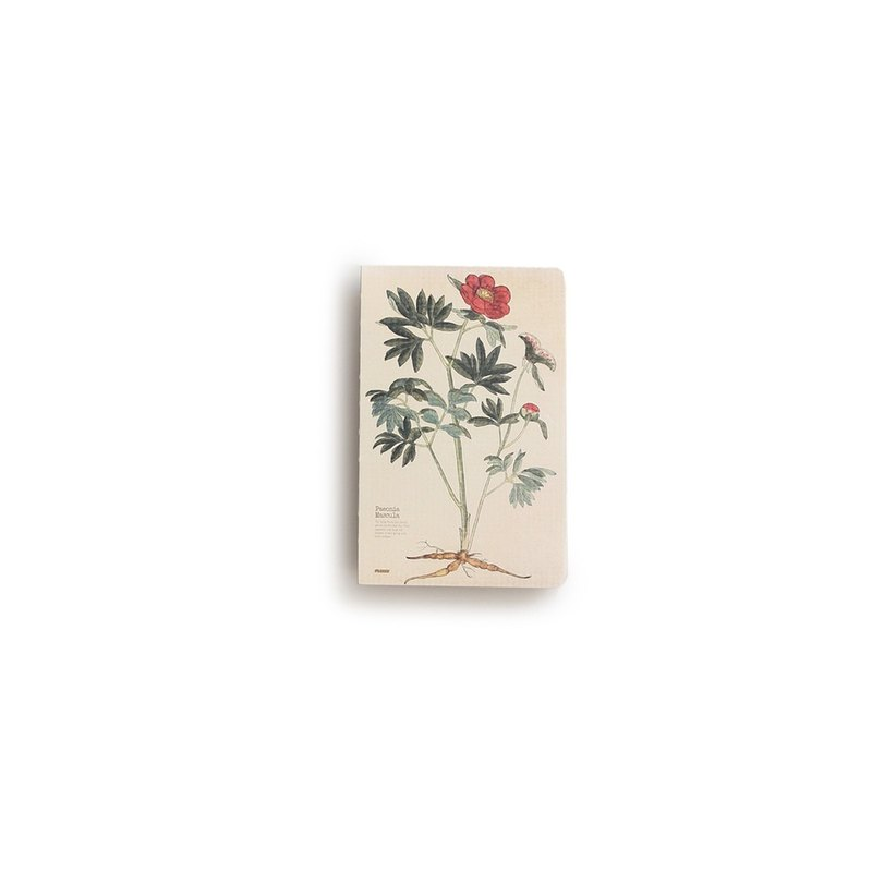 JIUKOUSHAN Nine-Mountain Mountain 320Pages Herb Series Nude Packed White Paper Notebook Wild Peony