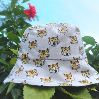 Reversible bucket hat shy tiger  s-m