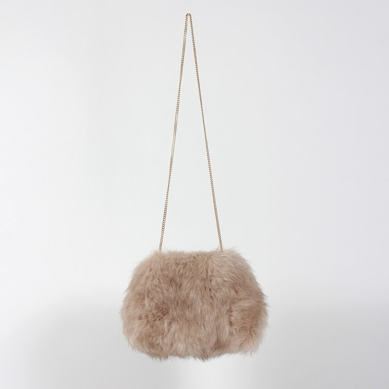 Maohai soft bag artificial fur bag hairy white rice - limited items