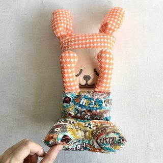Homycat sleepyhead bunny junior (foldable, orange)