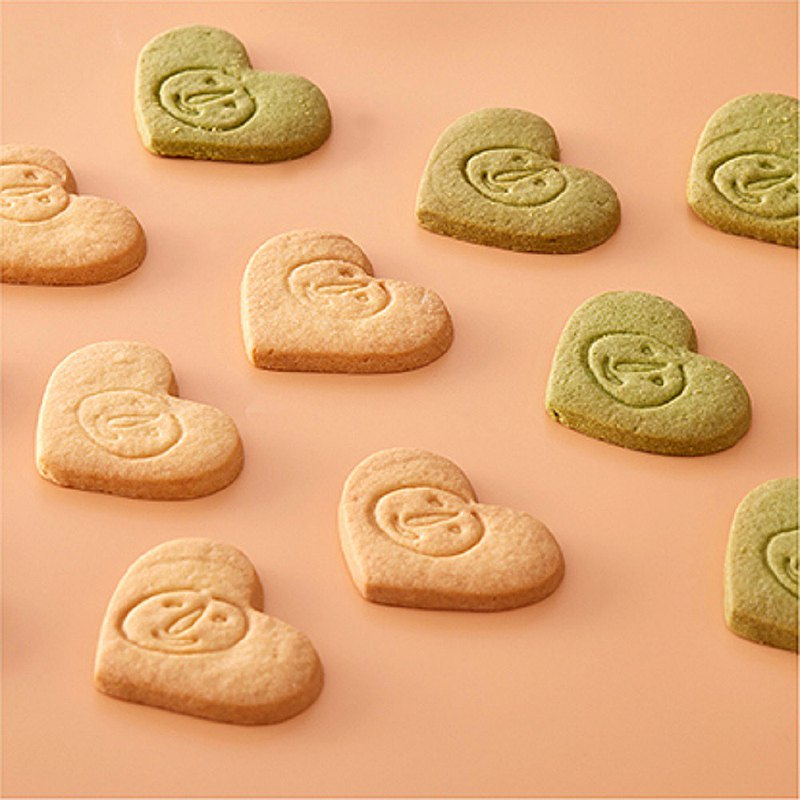 Magpie. Handmade Biscuit [Love Logo Biscuit-100 Pieces] Single Piece Packaging