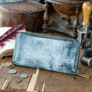 Japanese Manufacturers' cowhide packs dark lily Thomas Ware made in JAPAN handmade leather wallet