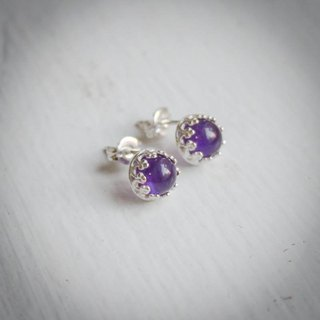 Amethyst lace earrings