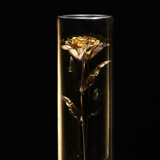 The Beast's True Rose - Brass Art Rose 1:1 Size