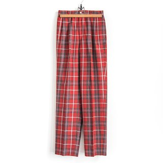 Vintage rouge color vintage high waist wool trousers