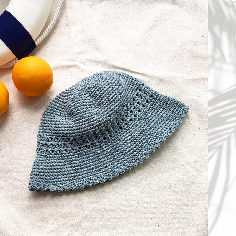 Ocean Blue Bucket Crochet Hat