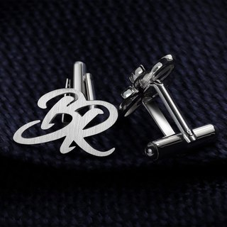 Initials Cufflinks - Personalized Cufflinks Monogram - Cufflinks for groom