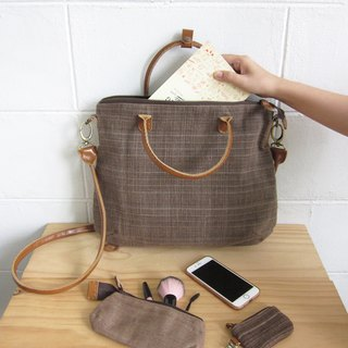 Crossbody Curve Bags Hand woven and Botanical dyed Cotton