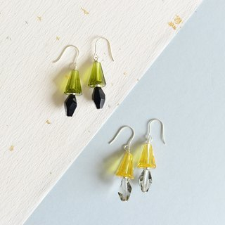 :: Gui honey jewelry festival :: Silver table lamp earrings - multi-color crystal optional 1 +1 offer