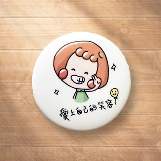 Fall in love with your smile / badge badge