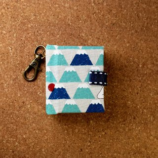[Animals at the foot of Mount Fuji] Mini Phase Key Ring 5cmX4.3cm - Custom Small Things