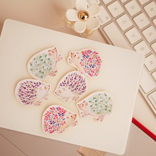 Watercolour Kawaii Flower Hedgehog Planner Stickers (WT-005)