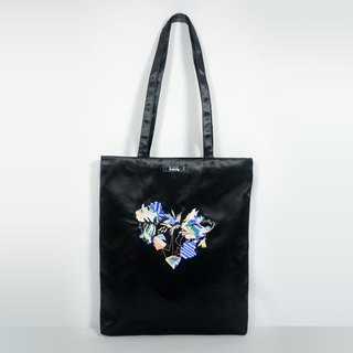 humming-Embroidery Bag /black