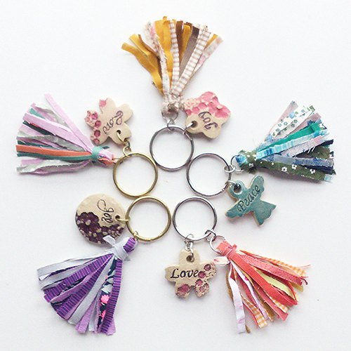 Fabric Tassels x Ceramics Charm Key Holder