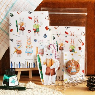 Cat Bunny Stationery Gift Pack