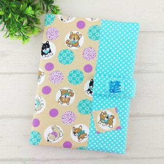 Naughty Shiba Inu-2 color optional. Baby handbook mother book cloth book (free embroidery)