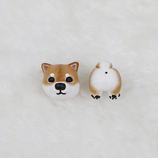 Chai dog single earrings (ear needles / ear clip) | hand | animals | accessories | jewelry |