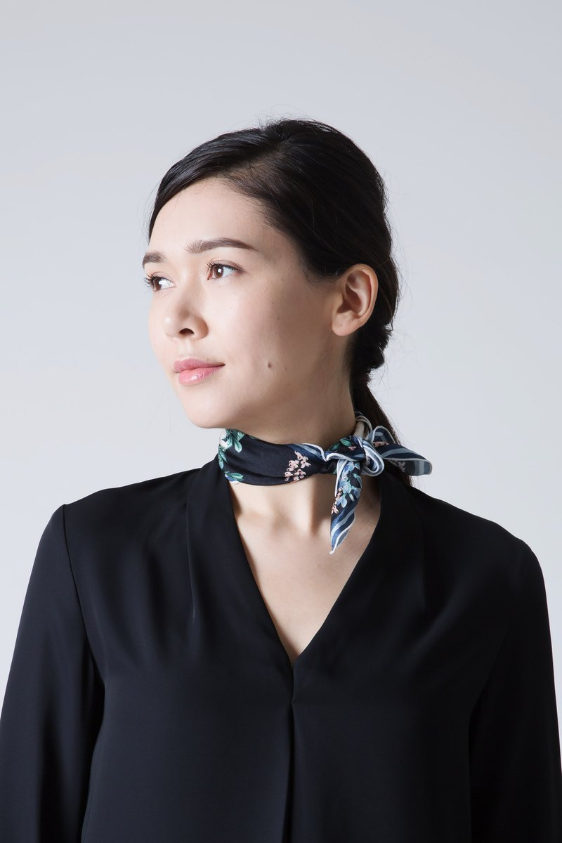 PARADISE NECK SCARF - BLACK
