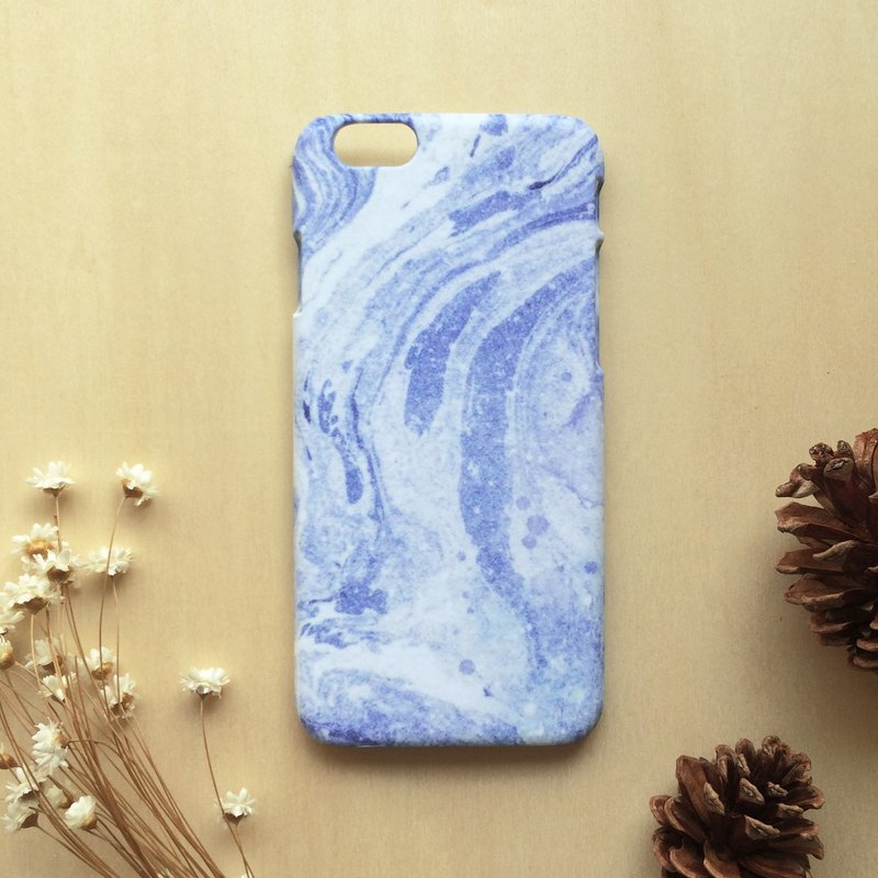 Retro blue Marbling. Matte Case( iPhone, HTC, Samsung, Sony, LG, OPPO)