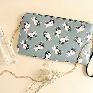 Momo Border Collie 2 Way Purse-Crossbody/ Clutch