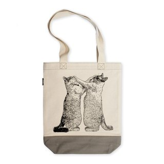 AMO®Original  Hit Color Shoulder Tote Bags/AKE/Gray-off White
