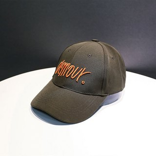 Three-dimensional embroidery fine cotton cap 2 colors