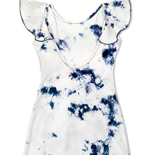 CHANDAMAMA Tina White w/Navy Dress