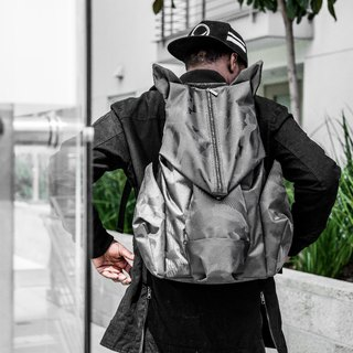 ORIBAGU Origami Bag _ black camouflage mountain pig backpack