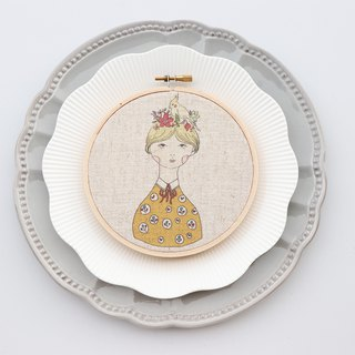 Allison Alison illustration embroidery material package