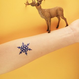Deerhorn design / antlers tattoos stickers into snowflakes Blue Christmas Winter Christmas
