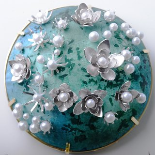 EPOCH-JEWELRY Jasmine Brooch (large) manual metal craft