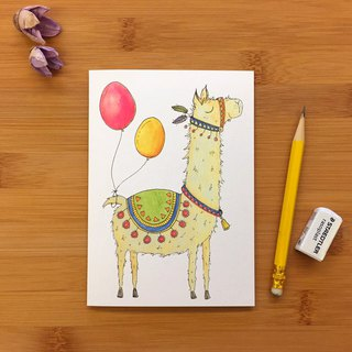 【LITTLE DIFFERENCE】LLAMA GREETING CARD