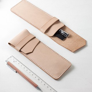 SEANCHY Leather pen case sleeve  - Hand stitched genuine Italian veg tan Leather