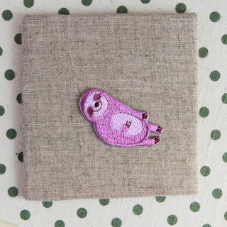 Down sleeping sloth - self-adhesive embroidered cloth affixed to the large tree lazy series