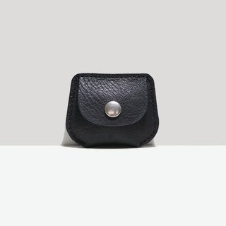 LUCE Hand-sewn and Vegetable-tanned Leather Purse - Black