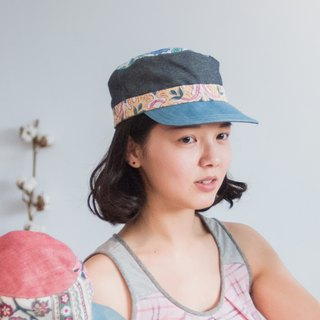 Cap - pink section (jeans, retro, Boximiya, outdoor)