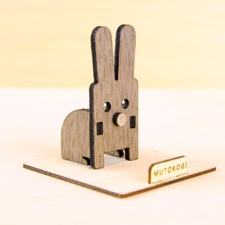 Jumping bunny x handmade wooden phone holder mobile phone holder wedding small things exchange gift MUTOKOGI