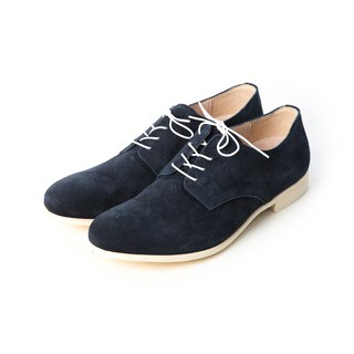 ARGIS Japanese suede comfortable casual shoes #56117 midnight blue (with laces) - handmade by Japan