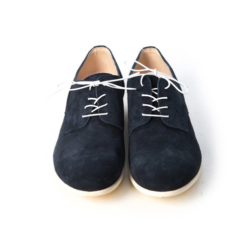 ARGIS Japanese suede comfortable casual shoes  56117 midnight blue (with  laces) - handmade by Japan - Designer ARGIS Japan Handmade Leather Shoes  c955ba6f055