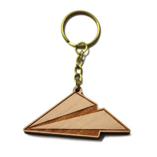 Paper Airplane / timber / wooden / gifts / customized / logs key ring