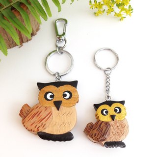 [Handmade wooden x owl key ring / strap] * December