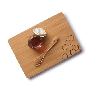 Goody Bag - Bambu [嗡嗡嗡勤劳蜂] blessing bag (honey chopping board + honey spoon)